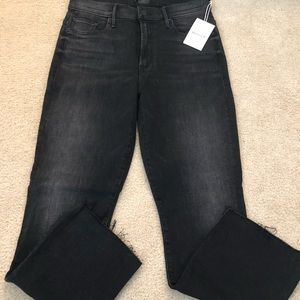NWT MOTHER Insider Crop with gray cuffs